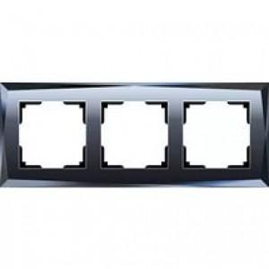 Werkel  Diamant   WL08 -Frame -03 рамка на 3 постa (черное стекло)