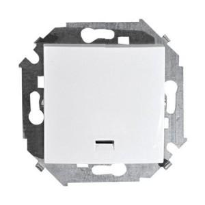 Выключатель кноп. 1-кл. СП Simon15 с инд. бел. 1590160-030