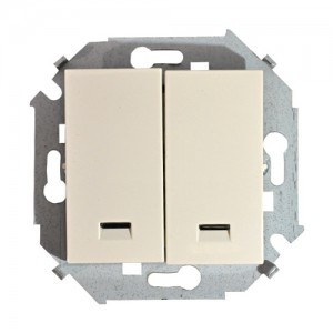 Выключатель 2-кл. СП Simon15 с инд. бел. винтовой зажим 1590392-030