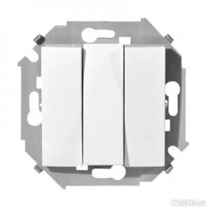 Выключатель 3-кл. СП Simon15 бел.винтовой зажим  1590391-030