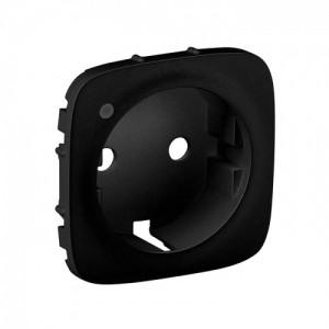 Legrand Valena ALLURE Матовый черный (Антрацит)  Накладка розетки  с/з  с индикацией 754858