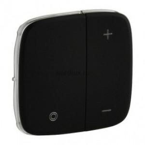 Legrand Valena ALLURE Матовый черный (Антрацит)  Лицевая панель для кнопочного светорегулятора 752008