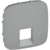 Legrand Valena ALLURE Алюминий  Накладка  1-й аудиорозетки с пружинными зажимами 755367