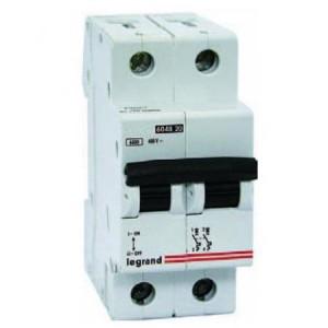 Автомат  Legrand двухполюсный 63А  TX3 6000