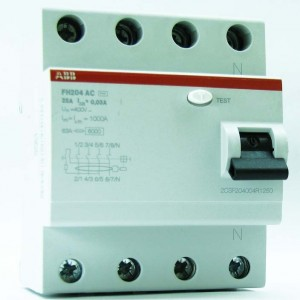 УЗО ABB 4/40А F 204 AC-40/ 0.1A ( Выключатель дифференциальный)