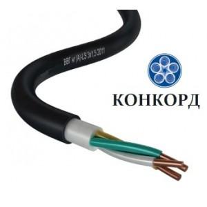 Провод (кабель) ВВГ нг (А) LS 3х1.5 кругл (Конкорд) ГОСТ РФ Очень выгодно!!!