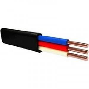 Провод (кабель) ВВГ нг 3х4 (пл) Цена за 1 м Кабэлектроснаб  ГОСТ РФ