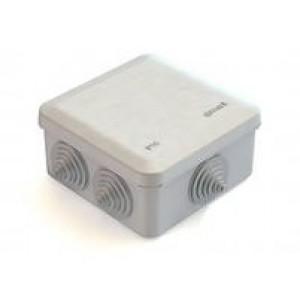 Коробка распаячная облегченного типа 41231-07  6 гермовводов  100х100х50мм (Ral 7035 cерая.)
