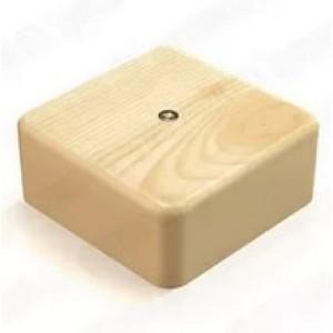 Коробка распаечная 85х85х25 цвет сосна