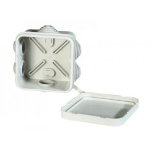 Коробка распаячная (с откидной крышкой) 41236, 4 гермоввода, 70х70х40 (Серый RAL 7035)