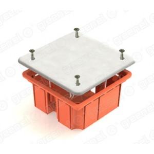 Коробка распаячная 41022, с пластиковыми зажимами, 92x92x45 GREENEL (Оранжевый)