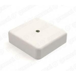 Коробка распаячная 41216-01, 75х75х28, с клеммной колодкой 2*4*10 GREENEL (Белый)