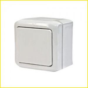 Выключатель 1-кл. ОП 10АХ Legrand Quteo IP44 белый. Leg 782300