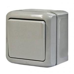 Выключатель 1-кл. ОП 10АХ Legrand Quteo IP44 сер. Leg 782330
