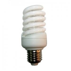 Лампа энергосберегающая спиральная  Е27 25W теплый и холодный свет LEEK