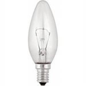Свеча Е 14 25W, 40W,60W прозрачная
