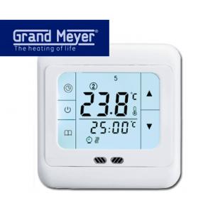Терморегулятор для теплого пола Grand Meyer PST-1 сенсорный программируемый белый