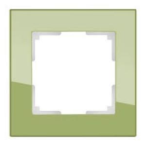 Werkel Favorit  Фисташковый WL01 -Frame -01 рамка на 1 пост Фисташковое стекло
