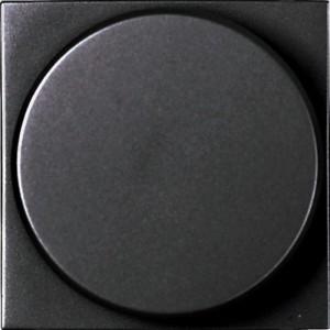Cветорегулятор поворотный для регулируемых LED лампABB Niessen Zenit , 2-100 Вт, антрацит