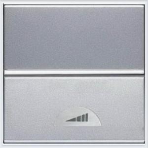 Светорегулятор клавишный ABB Niessen Zenit 40-500Вт (серебристый)